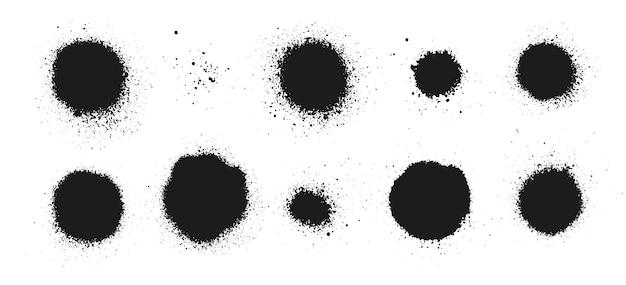 Vernice spray splatter texture vettore gocciolamento macchia grunge elemento vettore graffiti messi pennello inchiostro