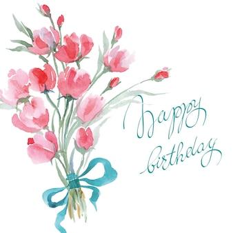 Sfondo primaverile con fiori primaverili in fiore tulipani rosa narciso e farfalle vector