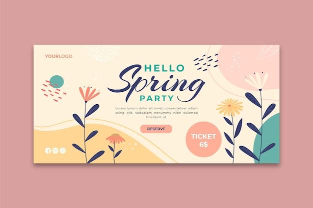 Modello di banner di primavera