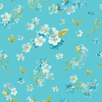 Modello di fiori di primavera sbocciano i fiori