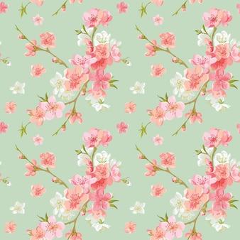 Modello senza cuciture dei fiori del fiore della primavera