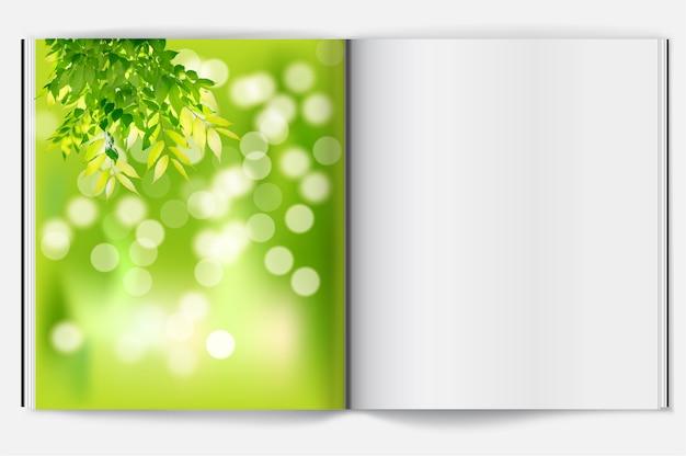 Primavera sullo sfondo del libro