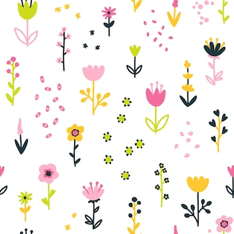 Modello senza cuciture floreale di primavera con i fiori.