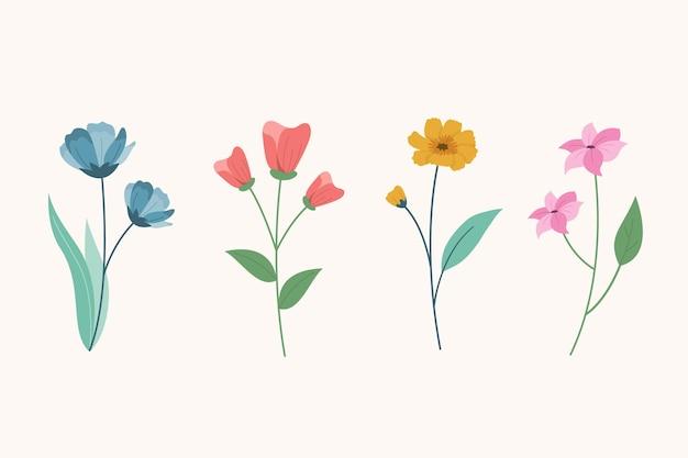 Fiore di primavera nella collezione di design piatto