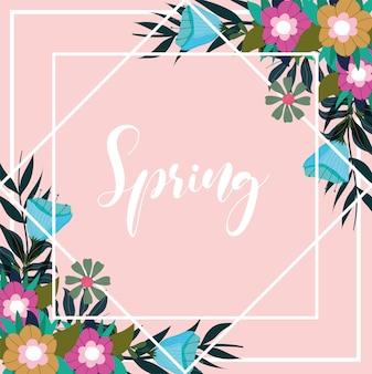 Disegnato a mano di primavera