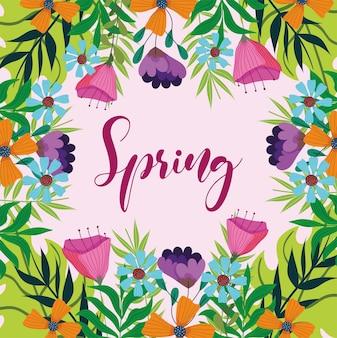 Fiori scritti a mano di primavera