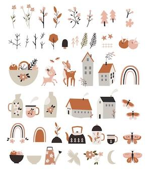 Elementi di primavera per bambini.