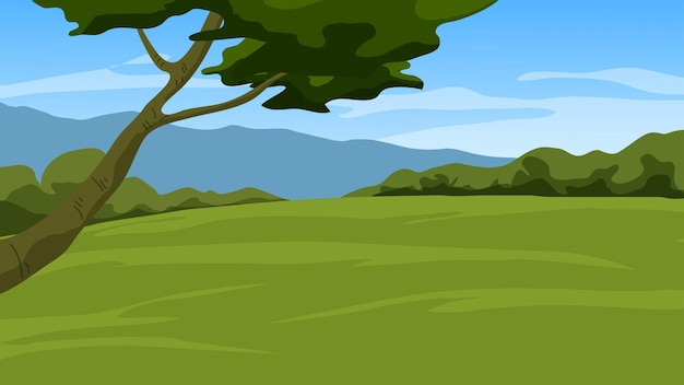 Paesaggio primaverile con campo vuoto