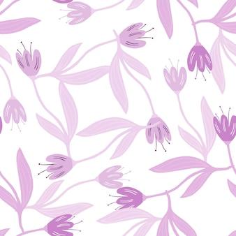 Reticolo senza giunte del fiore del tulipano lilla di primavera.
