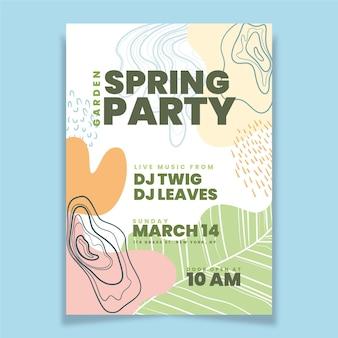 Modello di poster festa di primavera