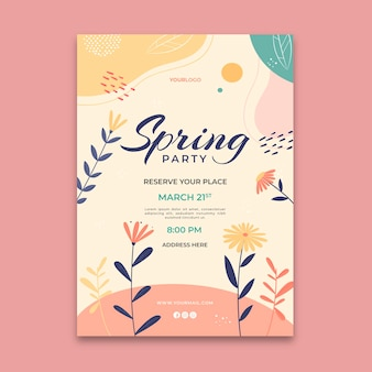 Modello di poster di primavera