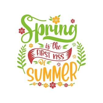 Vettore di disegno di citazioni di primavera