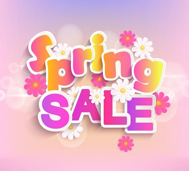 Sconto di vendita del 50 per cento di vendita di primavera.