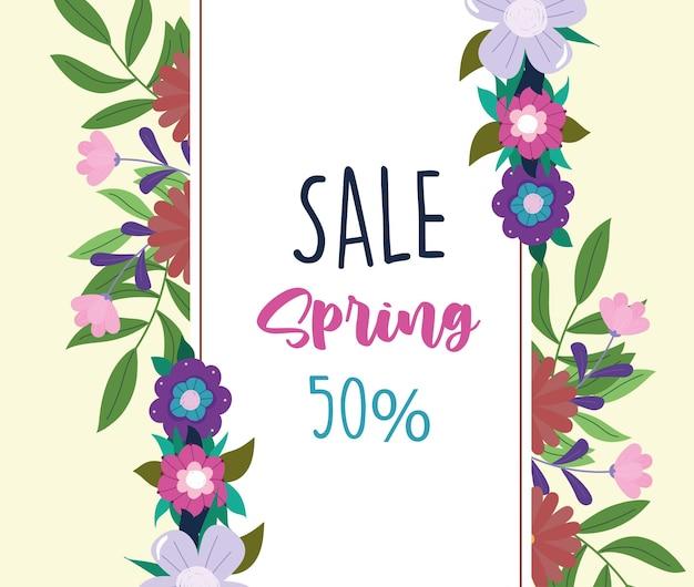 Etichetta di vendita di primavera