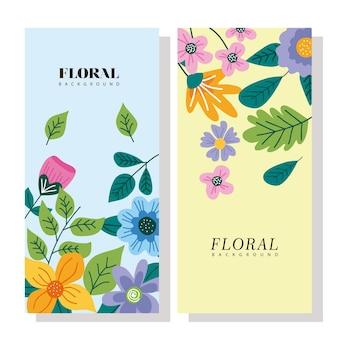 Set di carte stagione primaverile