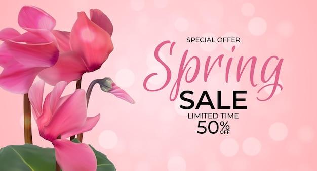 Banner di vendita di offerta speciale di primavera