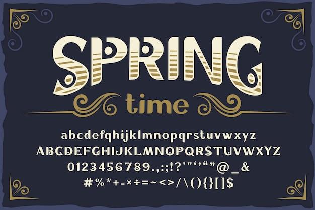 Carattere vintage di primavera