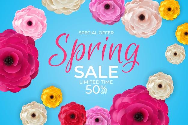 Banner di vendita vivace di primavera