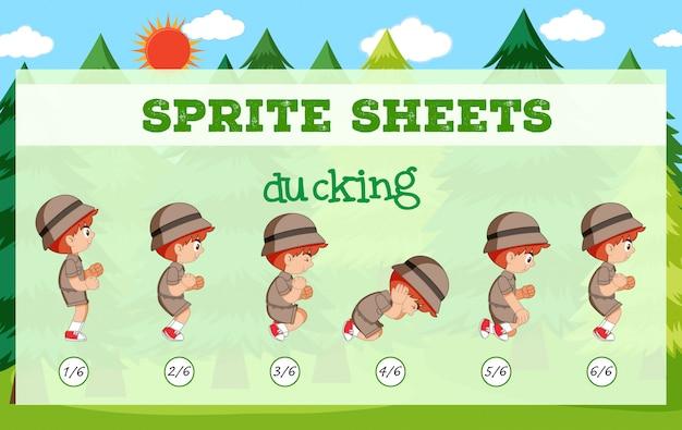 Sprite boy sheet ducking