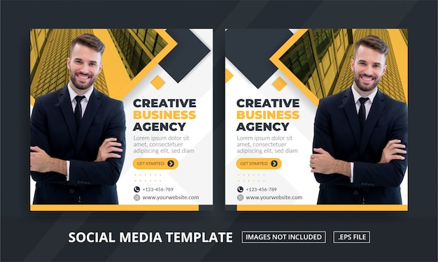 Square banner social media post themed creative business agency