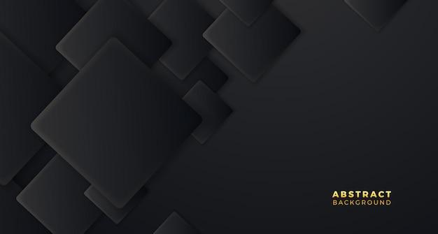 Quadrato nero motivo geometrico copertina lusso elegante sfondo moderno minimalismo