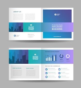 Progettazione di brochure pieghevoli square business | progettazione di opuscoli | documento di marketing e finanziario