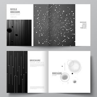 Design quadrato bifold brochure flyer copertina di una rivista design book design copertina della brochure tech science
