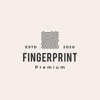 Quadrato dito stampa logo vintage icona illustrazione