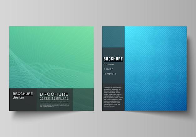 Formato quadrato copre modelli di design. motivo geometrico astratto con gradiente colorato