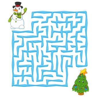 Labirinto quadrato gioco di natale per bambini puzzle invernale per bambini enigma del labirinto