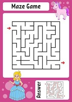 Gioco labirinto quadrato per bambini labirinto divertente