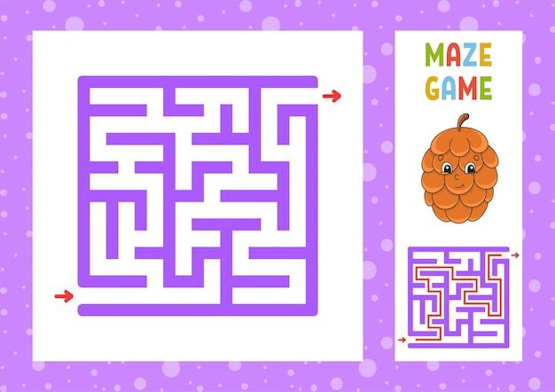 Labirinto quadrato gioco per bambini