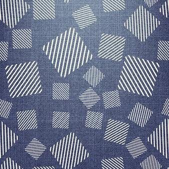 Motivo quadrato su tessuto. fondo geometrico astratto, illustrazione di vettore. immagine di stile creativo e di lusso