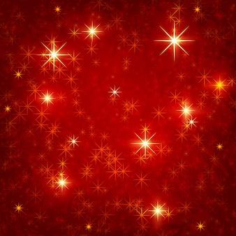 Sfondo quadrato rosso lucido con stelle