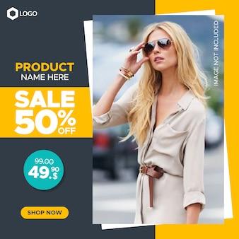Banner quadrato di vendita per post web e instagram