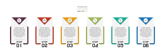 I cartelli quadrati vengono utilizzati per presentare sotto forma di banner opuscoli sui segnali di comunicazione e spiegare l'infografica del flusso di lavoro