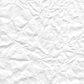Foglio quadrato di carta stropicciata bianca