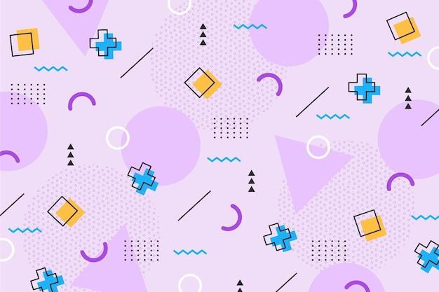 Quadrati e croci sullo sfondo di memphis