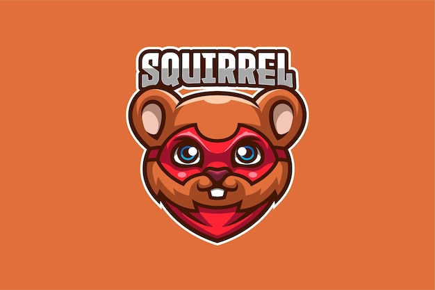 Modello di logo di scoiattolo e-sport