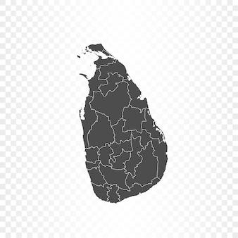 Rendering isolato mappa dello sri lanka