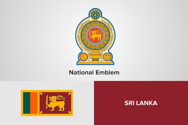 Modello di bandiera dell'emblema nazionale dello sri lanka