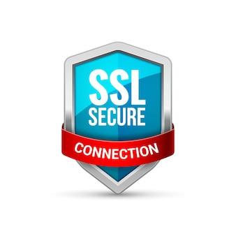 Icona di protezione dello scudo di protezione ssl. simbolo del segno di protezione ssl di sicurezza.