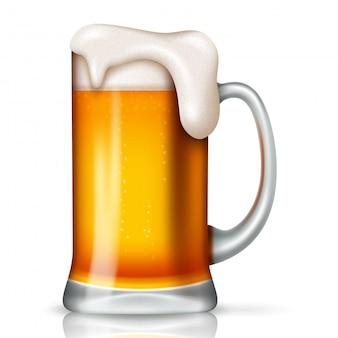 Sfondo di giorno di san patrizio con birra di vetro