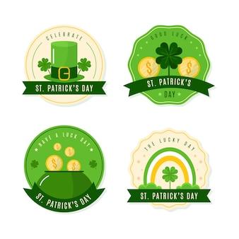Collezione di badge per il giorno di san patrizio
