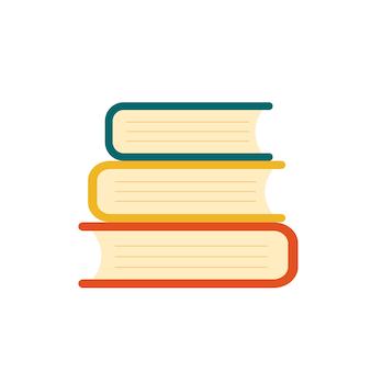 Pila di libri. illustrazione vettoriale piatta