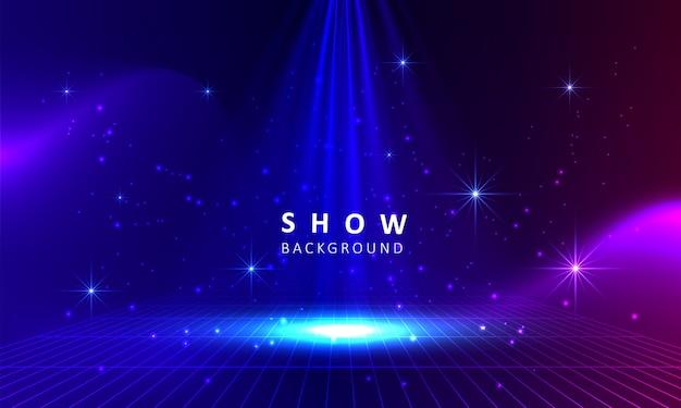 Podio del palco con sfondo effetto luminoso