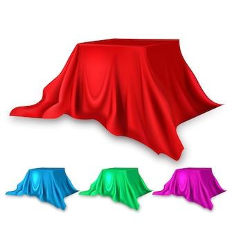 Set da palco in seta rossa
