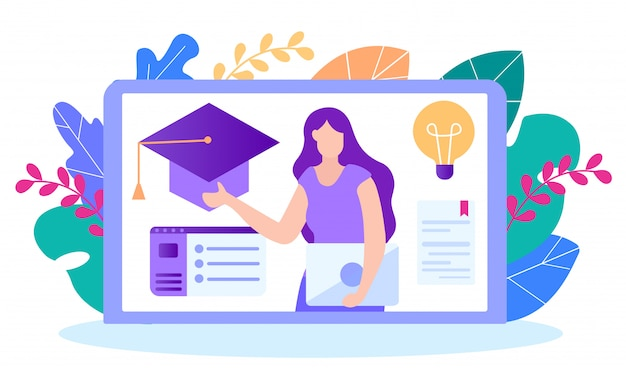 Stage ottenere diploma. educazione a distanza.