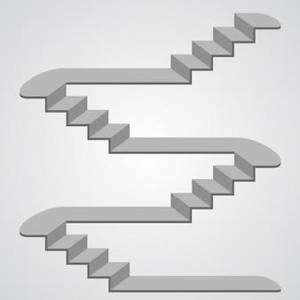 Oggetto del segno di arte della scala 3d. illustrazione vettoriale