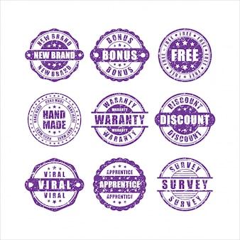 Collezione di prodotti di design francobolli